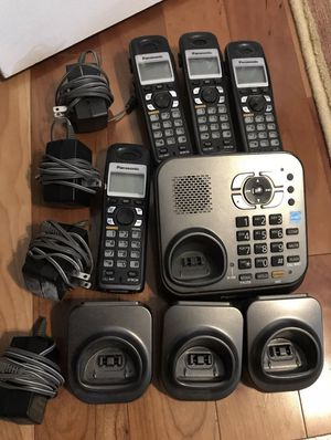 Panasonic Cordless 4-Phone Set (KX-TG9341T 1.9 GHz Single Line) for Sale in San Diego, CA