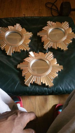 3 gold wall mirrors for Sale in Pittsburgh, PA