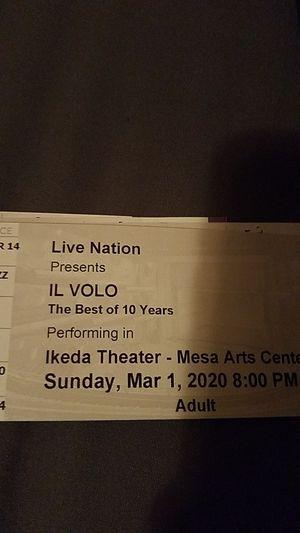 IL VOLO Tickets for Sale in Avondale, AZ