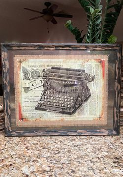 Vintage Typewriter Framed Wall Art 22x28 for Sale in Houston,  TX