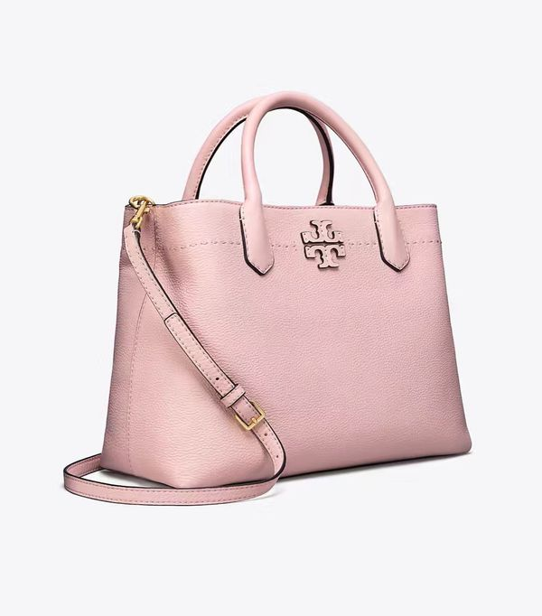 Tory Burch Pink Mcgraw Leather Satchel