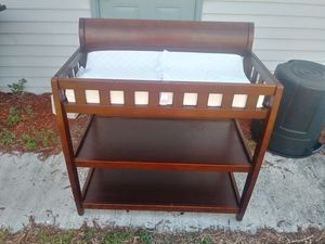 Wood Changing Table with changing pad! Can deliver! for Sale in Oakland Park, FL