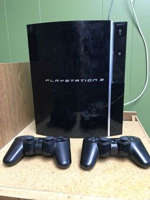 Sony PS3 with two wireless controllers. for Sale in Ruston, WA