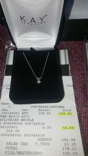 Diamond earrings and necklace $250 for Sale in Denver, CO