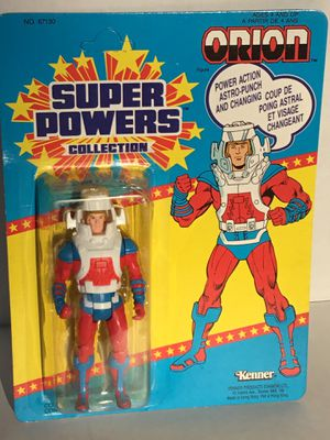 "Vintage RARE CANADIAN BACK CARD OF ""ORION"" SUPERPOWERS ACTION FIGURE MOC for Sale in Mountville, PA"