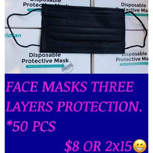 Face masks 3 Layers Protection ..50 PCS •Pick Up ONLY for Sale in City of Industry, CA