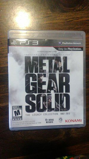 Metal Gear Solid Legacy Collection PS3 for Sale in Vancouver, WA