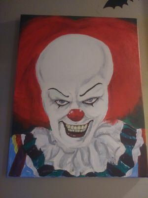 Pennywise the clown painting 14x18 for Sale in Manassas, VA