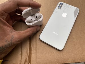 iPhone X Air Pods 1st Version 📲🎧🤝 for Sale in Decatur, GA