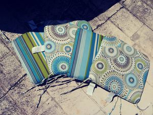 4 indoor/outdoor patio cushions reversible for Sale in Johnson City, TN