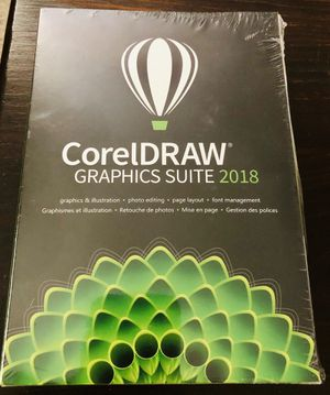 Corel CorelDRAW Corel DRAW Graphics Suite 2018 sealed GENUINE Win7/8/10 full version: Brand New & Factory Sealed! for Sale in Phoenixville, PA
