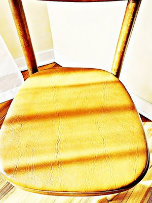 Wooden Shelby Williams Industries MCM chairs (4) with leather seat cushion. for Sale in Washington, DC