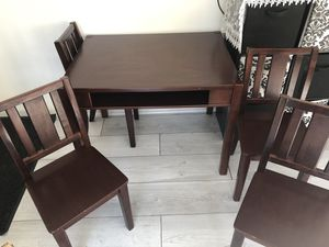 SOLID KID TABLE WITH 4 CHAIRS for Sale in Oakhurst, NJ