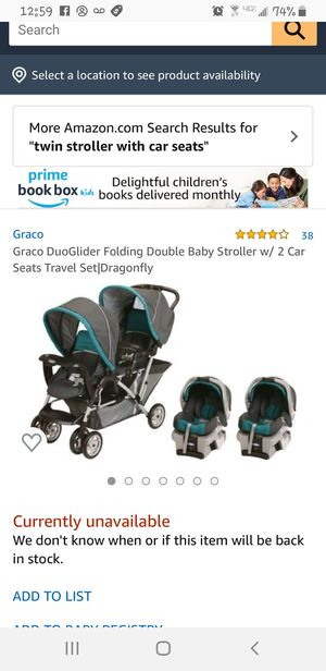 Graco duoglider stroller and car seats with bases for Sale in Calimesa, CA