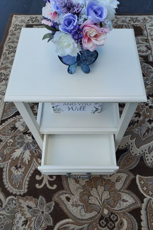 A Solid White Pier One End Table/Night Stand for Sale in Cranberry Township, PA