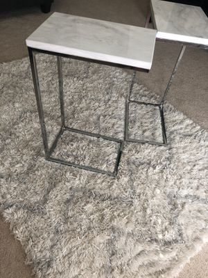 Modern Marble Style Side End C Tables for Sale in Warner Robins, GA