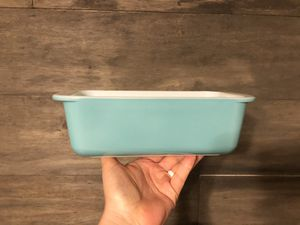 Pyrex loaf pan - aqua for Sale in Spring, TX