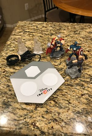 Disney Infinity 2.0 Thor, captain America, Hawkeye, 2 avengers towers and base for Sale in Chandler, AZ
