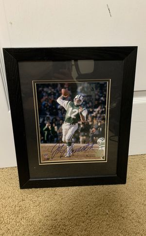 Joe Namath autographed picture for Sale in Ashburn, VA