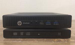 Micro Tiny HP Elitedesk Core i5 Corei5 8GB RAM 256GB NVMe SSD DVD RW Windows 10 Dual display desktop computer for Sale in Pembroke Pines, FL