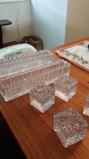 Crystal candle holder set for Sale in Portland, OR