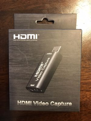 Video Capture Cards, HDMI to USB Video Capture Card USB 2.0 1080P HD Recorder Game/Video/Live Broadcasting Facebook Streaming Video Recording for Sale in Los Angeles, CA