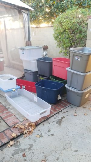 Storage containers all have lids in good condition for Sale in Fullerton, CA