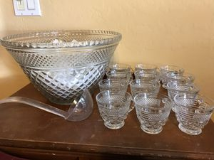 Anchor Hocking Wexford Punch Bowl Set for Sale in Gilbert, AZ