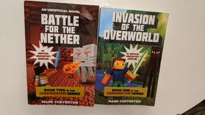 2 Minecraft Inspired Chapter Books for Sale in Norfolk, VA