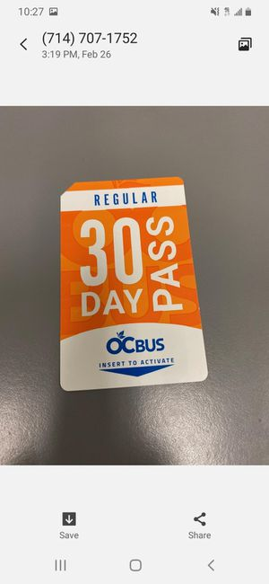 30 day pass for Sale in Anaheim, CA
