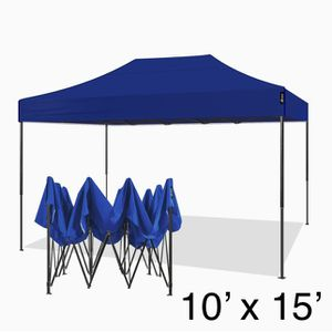 10x15 Ez Pop Up Canopy Tent Portable Heavy Duty Commercial Instant Canopies Outdoor Market Shelter 10'x15' (Black Frame) for Sale in Ontario, CA