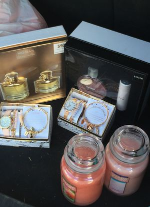 Real Ralph Lauren women and Chanel perfumes,2sets of love and guardian angel comes with watch bracelets with charms, and 2 yankee candles for Sale in Tampa, FL