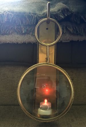 Magnified Brass Candle Holder for Sale in Clifton, NJ