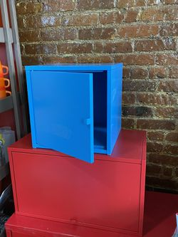 2 x IKEA PS Cabinets - Red and Blue for Sale in Queens,  NY