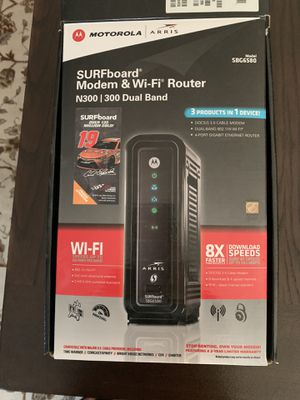 Motorola Arris modem and WiFi router for Sale in Dallas, TX