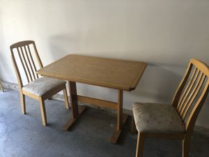 Wooden table with 4 chairs for Sale in Arcadia, CA
