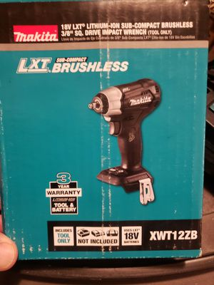 18-Volt LXT Lithium-Ion Sub-Compact Brushless Cordless 3/8 in. Sq. Drive Impact Wrench (Tool Only) for Sale in Fresno, CA