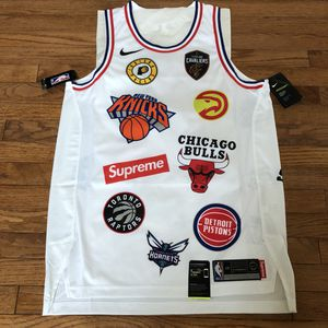 Brand new Supreme Nike NBA jersey size Large white 48 for Sale in Sterling, VA