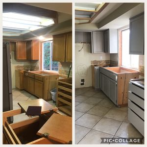 Kitchen cabinet refinishing, dressers also for sale, read post for Sale in Battle Ground, WA