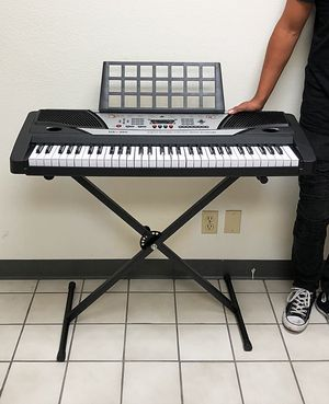 New $75 Music Electric Keyboard Digital Piano Beginner Organ w/ Stand Talent Gift 61 Key for Sale in South El Monte, CA