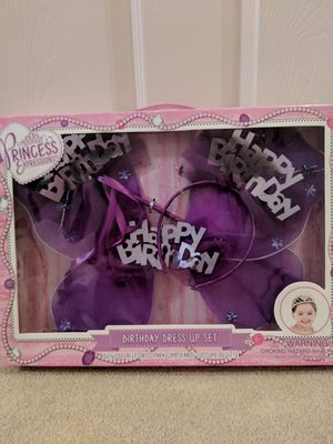 New 3 Piece Happy Birthday Dress Up Set for Sale in Frederick, MD