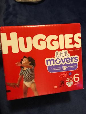 Huggies little movers size 6 (40 count box) for Sale in Phoenix, AZ