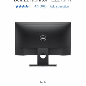 """Dell 21.5"""" Monitor - Black - Good Condition/New for Sale in Los Angeles, CA"""