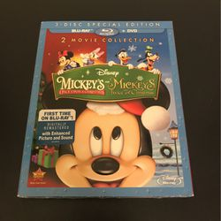 Mickey's Once Upon A Christmas/Mickey's Twice Upon A Christmas (Blu-Ray + DVD) for Sale in Washington,  DC