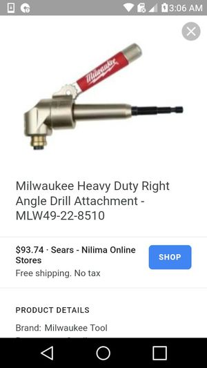 Right angle drill attachment for Sale in Portland, OR
