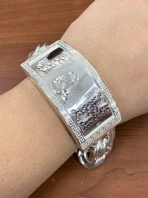 Silver chino link bracelet handmade (MMSch) for Sale in Houston, TX