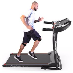 Folding Electric Treadmill Motorized Running Machine, Built-in Speaker, 12 Preset Programs, 3 Countdown Modes, Free Knee Strap Gift Included for Sale in Chino, CA