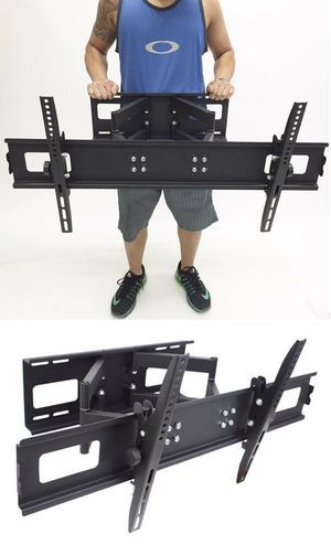New in box universal 40 to 85 inch swivel full motion tv television wall mount bracket 130 lbs capacity includes hardware screws FREE HDMI WIRE for Sale in Whittier, CA
