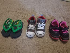 size 5, 6 and 7 toddler slipper and shoes for Sale in Tampa, FL