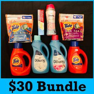 Tide detergent downy unstoppable Colgate $30 Bundle for Sale in Los Angeles, CA